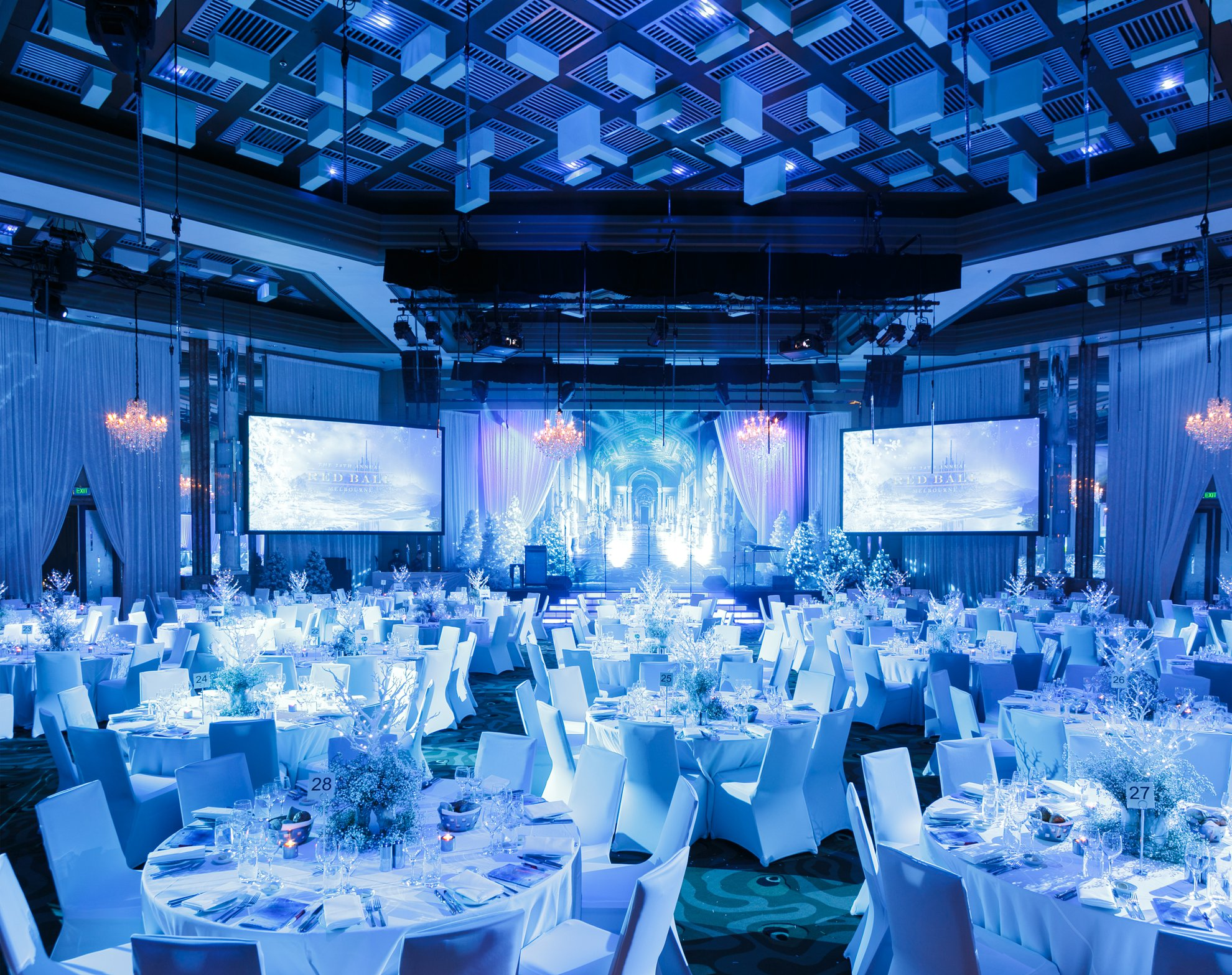 Blue Lighting in the Savoy Ballroom, Grand Hyatt Melbourne